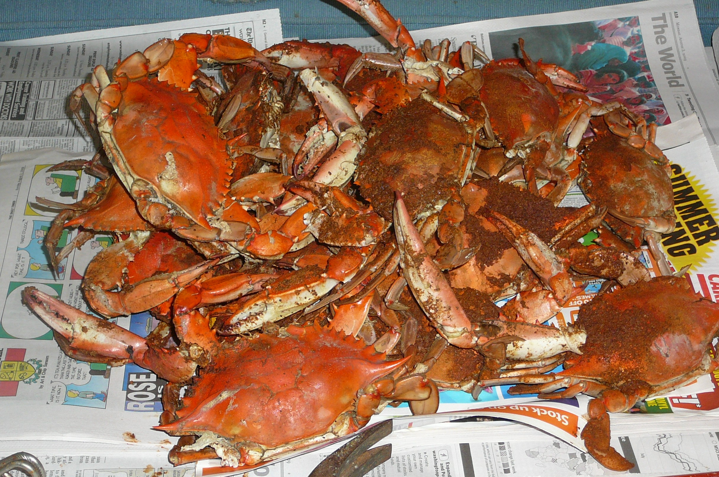 Steamed Crabs